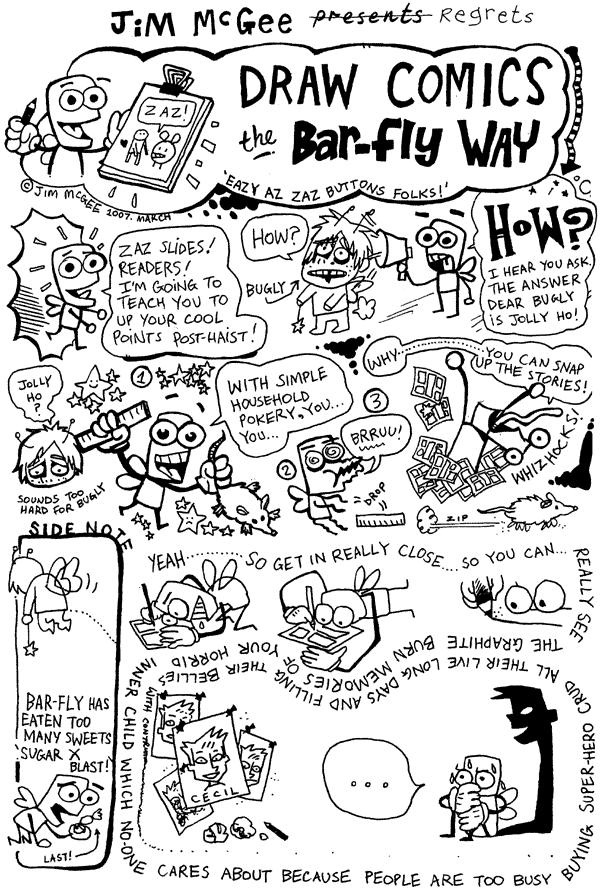 Draw Comics The Bar-Fly Way